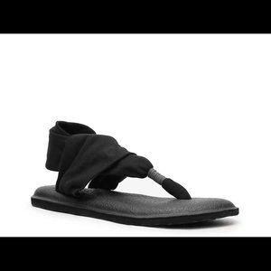 Sanuk Yoga Sling Sandal Size 6 Women's Black